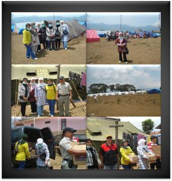 Kunjungan Korban Bencana Gempa di Daerah Pangalengan